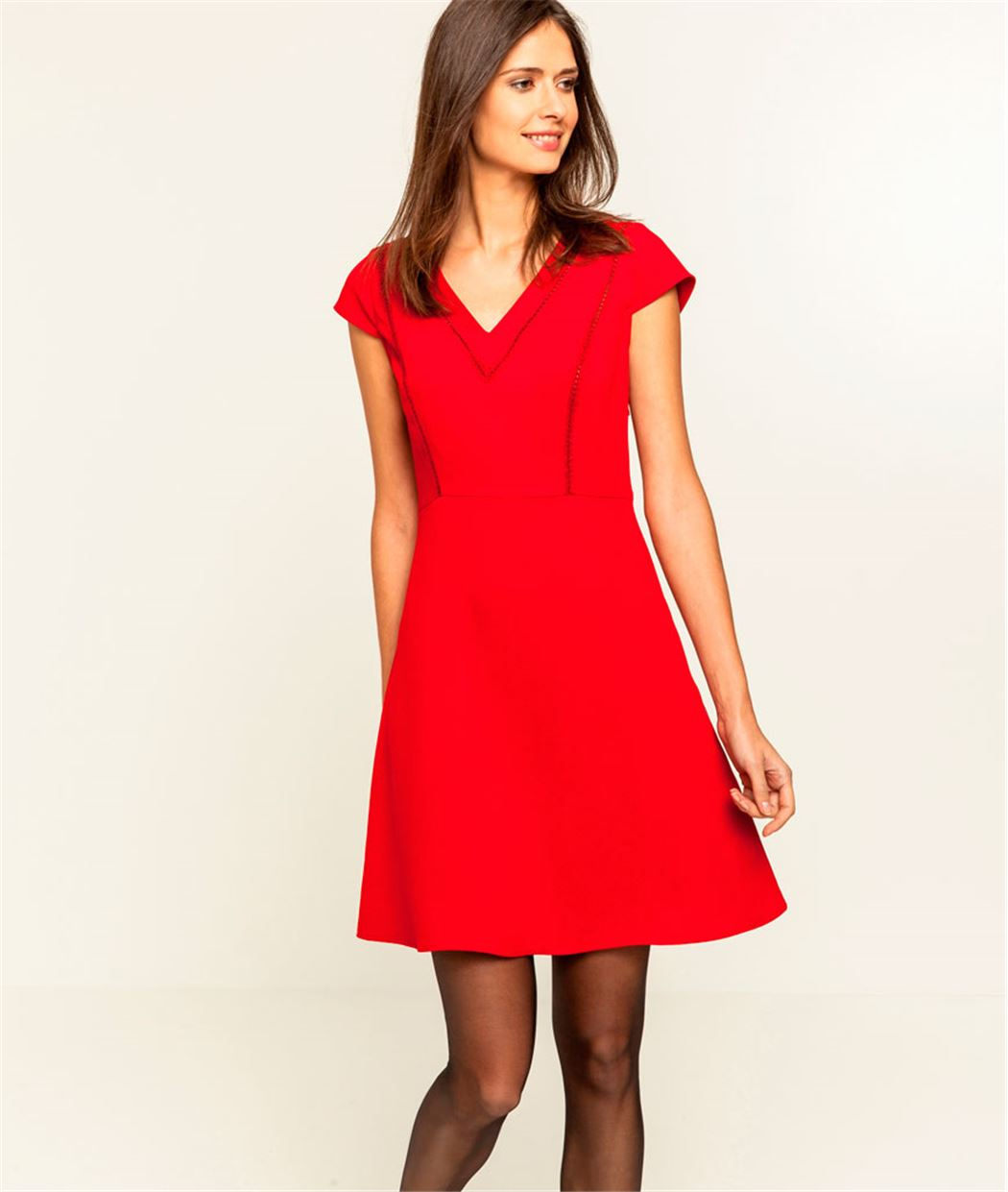 Robe unie patineuse ROUGE