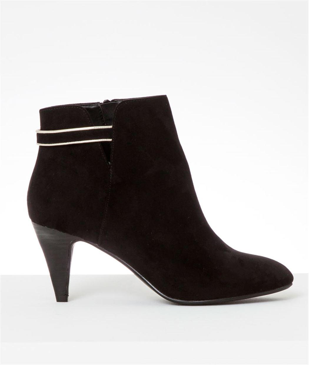 Boots femme noires à talons fins NOIR