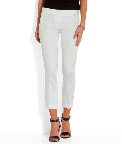 Pantalon femme 7/8ème satin de coton ECRU