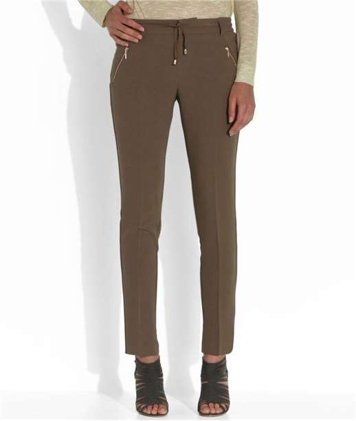 Pantalon femme fluide uni OLIVE