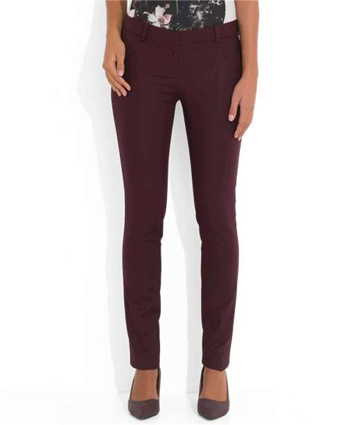 Pantalon femme à pinces coupe slim PRUNE