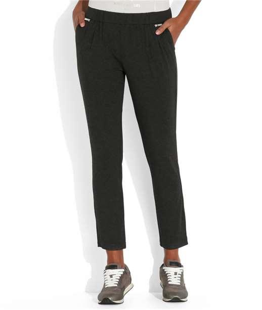 Pantalon femme jogging zippé GRIS