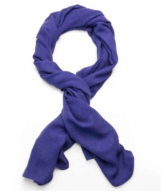 Longue écharpe chaude unie VIOLET