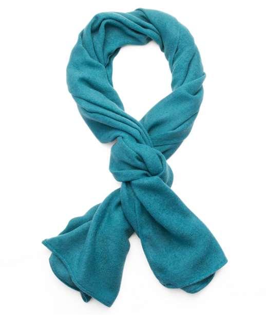 Longue écharpe chaude unie BABY BLUE
