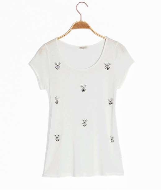 T-shirt femme bijoux ECRU