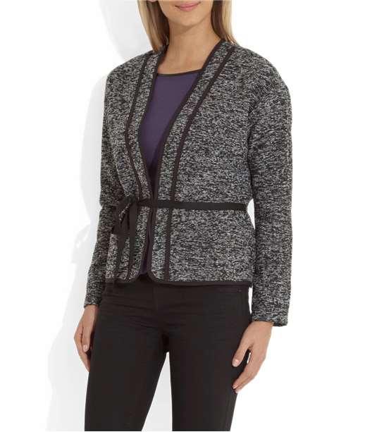 Veste femme lainage coupe courte GRIS