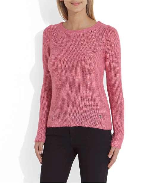 Pull femme court en laine ROSE POP