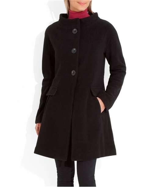 Manteau femme années 60 NOIR