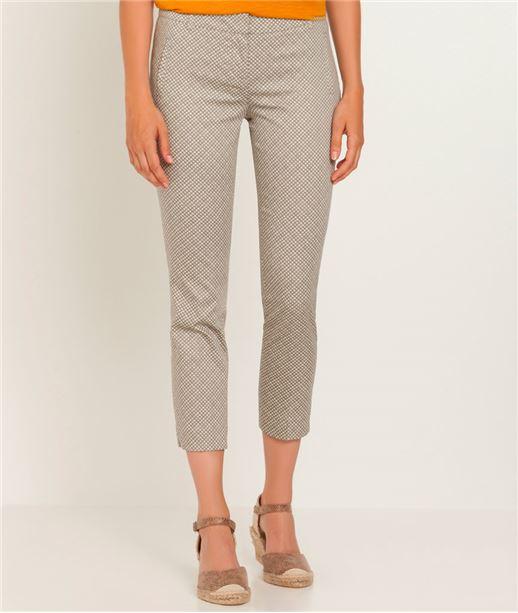 Pantalon femme 7/8 imprimé GRIS