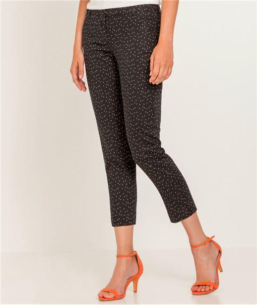 Pantalon femme 7/8 imprimé BLACK