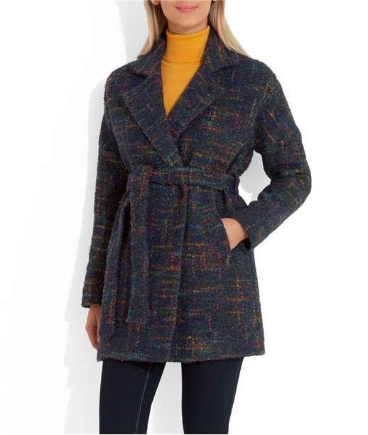 Manteau femme bouclette multicolore MARINE