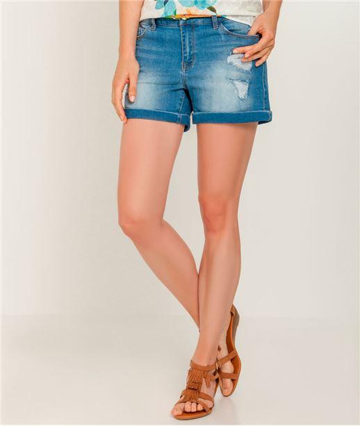 Short femme jeans et ceinture STONE