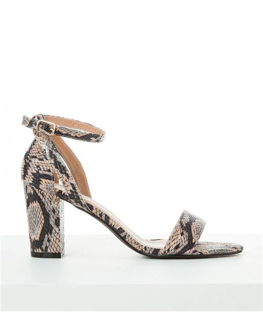 Chaussures femme python et talons larges MASTIC