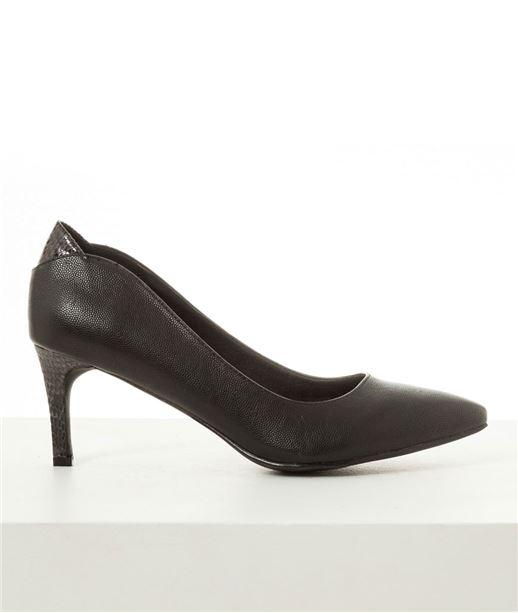 Chaussures femme escarpins bimatière NOIR