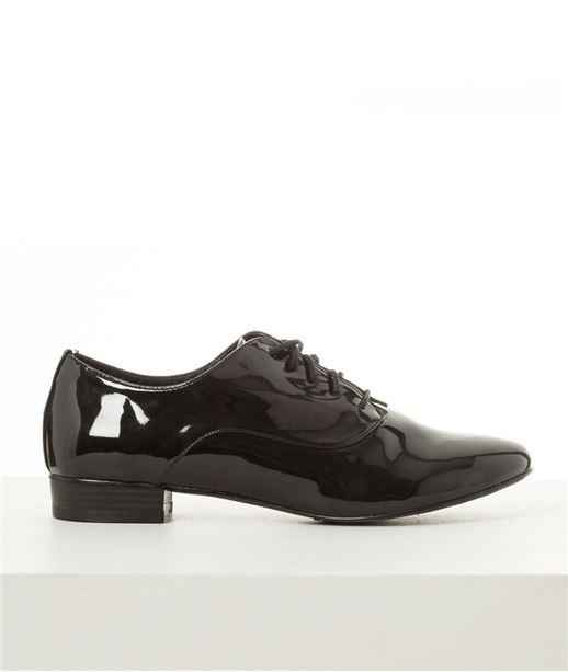 Chaussures femme derby vernis NOIR