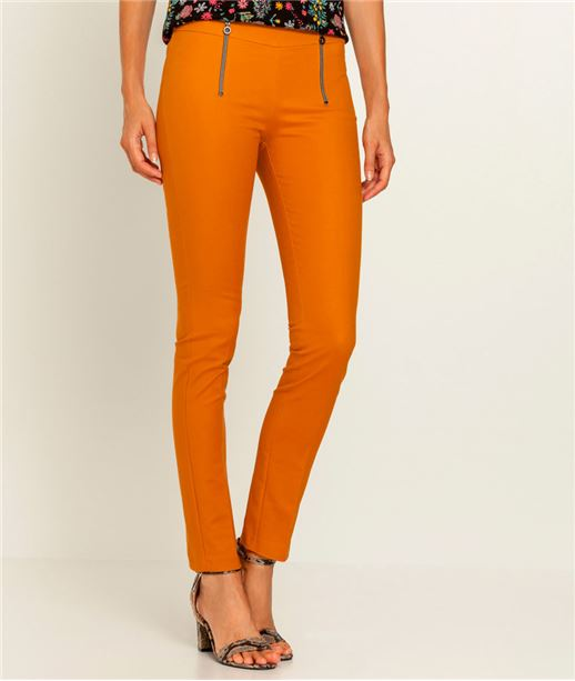 Pantalon femme slim zippé SAFRAN