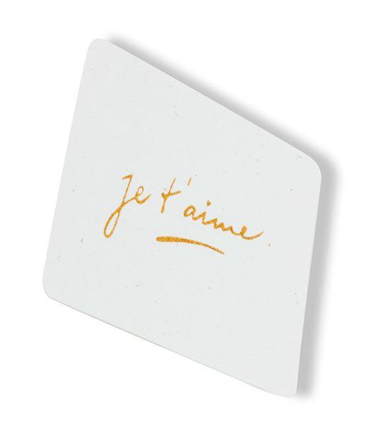 Carte de voeux d'amour BLANC