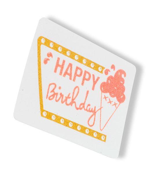 Carte de voeux anniversaire BLANC