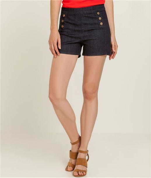Short femme jeans à ponts BRUT