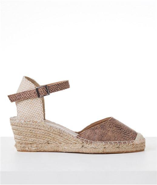 Chaussures femme espadrilles compensées BEIGE
