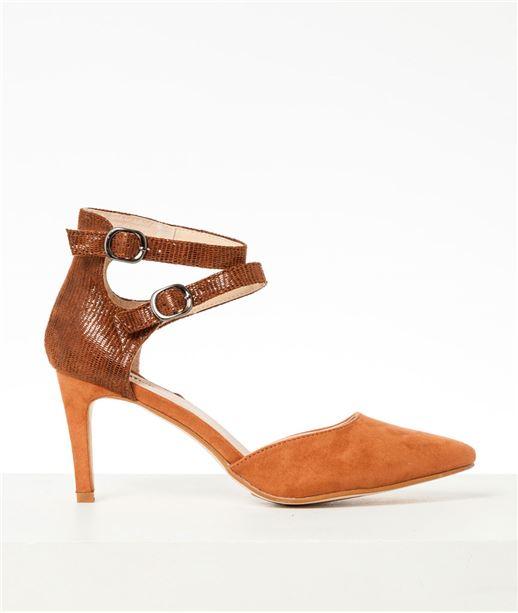 Chaussures femme escarpins brides CAMEL