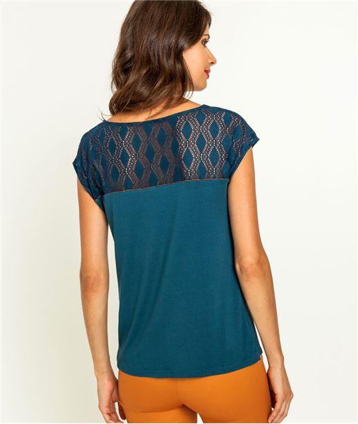 T-shirt femme laçage et dos en dentelle CANARD