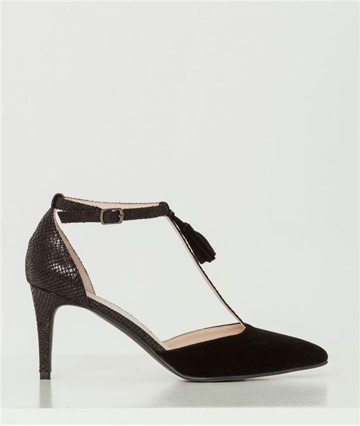 Chaussures femme escarpins salomé NOIR