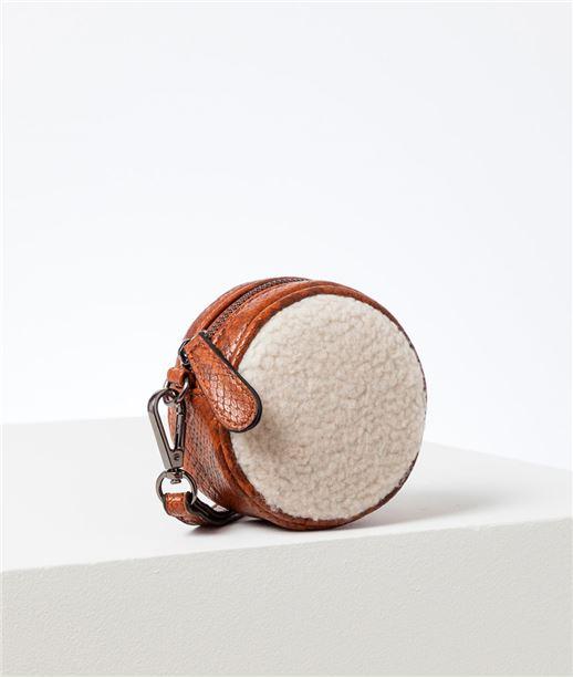 Porte monnaie femme avec sangle CAMEL