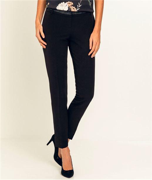 Pantalon femme tailleur irisé NOIR