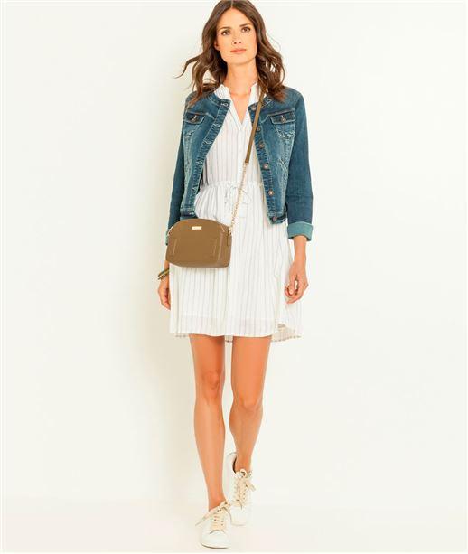 Veste femme jeans col rond STONE
