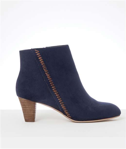 Boots femme talons bois BLEU