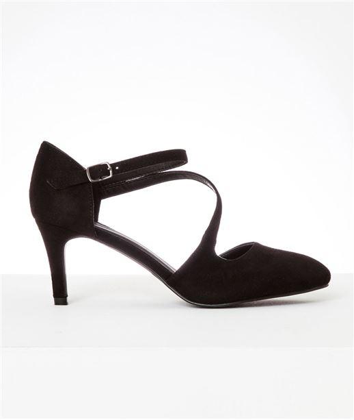 Chaussures femme escarpins daim NOIR
