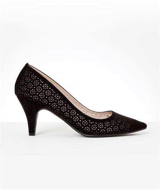 Chaussures femme escarpins ajourés NOIR