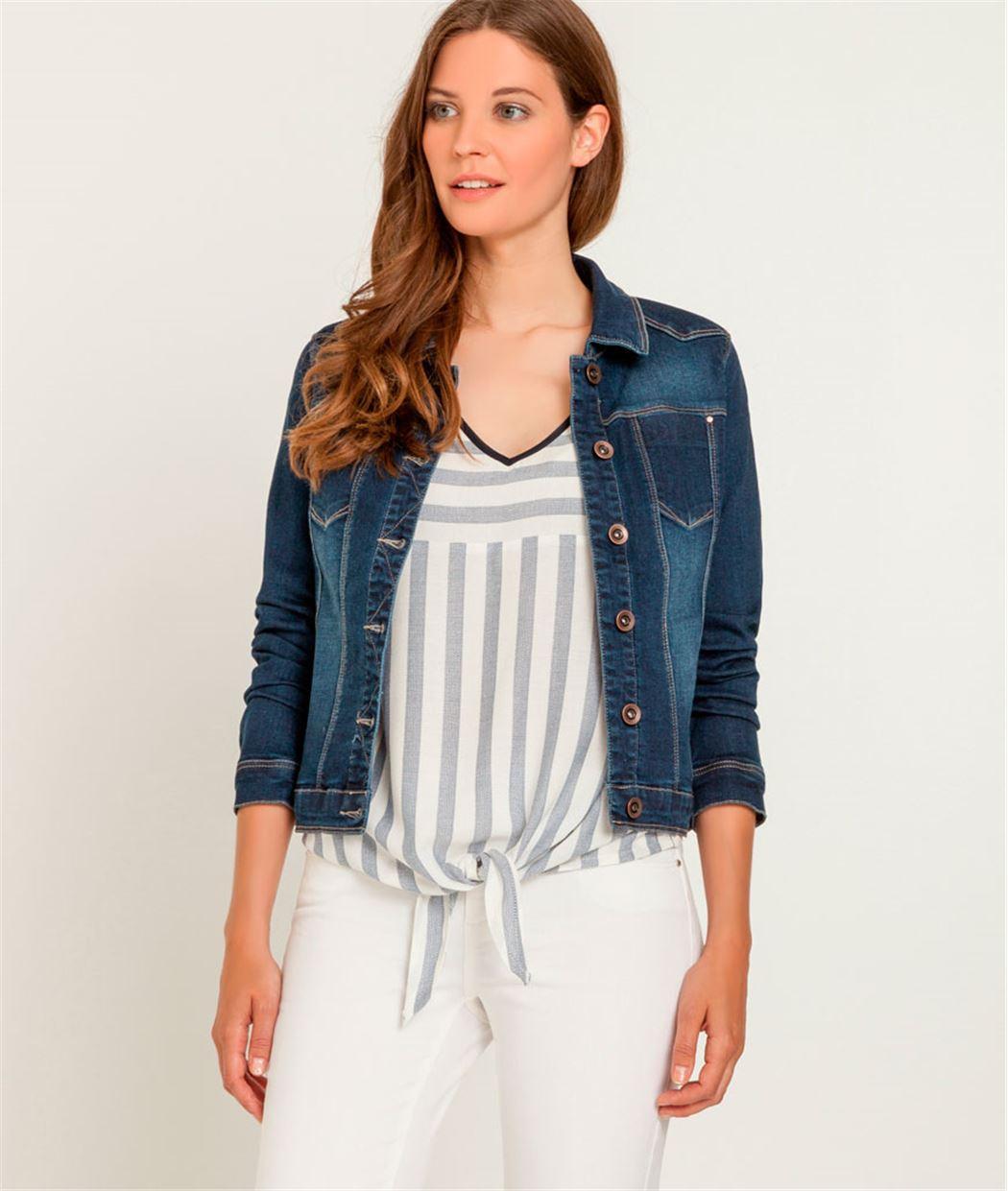 veste en jean femme rinse grain de malice