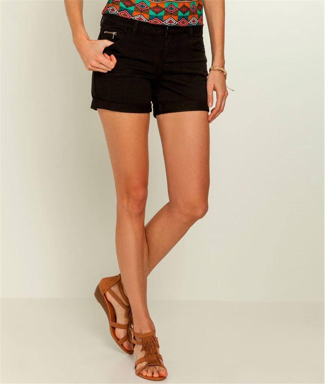 Short femme jean couleur BLACK - Grain de Malice acc11116ec7