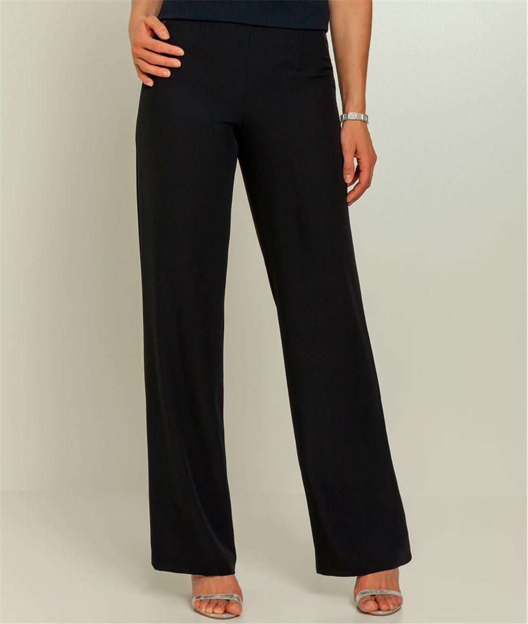 pantalon femme fluide taille haute bleu marine grain de. Black Bedroom Furniture Sets. Home Design Ideas