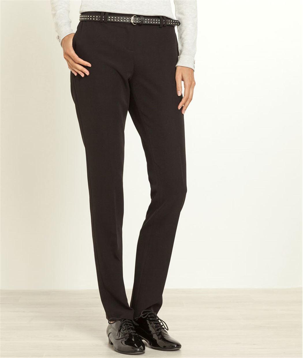 pantalon femme coupe droite noir grain de malice. Black Bedroom Furniture Sets. Home Design Ideas