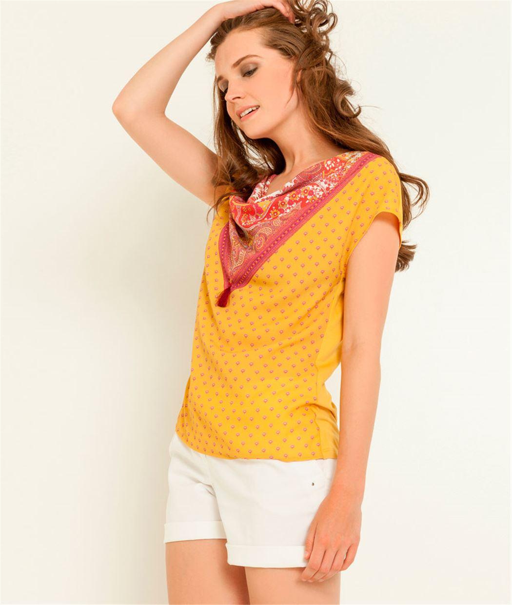 T-shirt femme bénitier imprimé SAFRAN