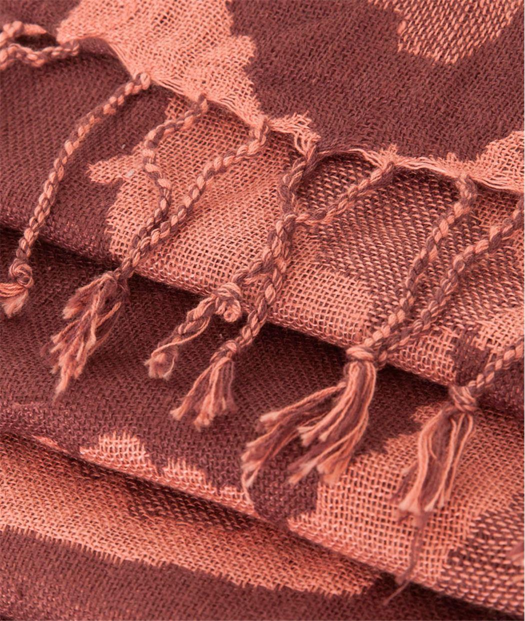 Etole femme jacquard peau de bête BORDEAUX - Grain de Malice 9d6599d092b