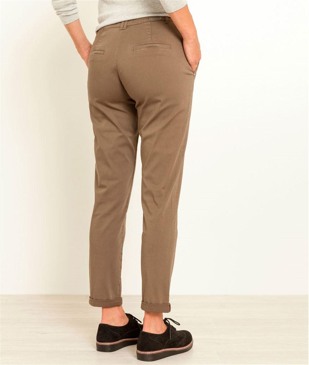 Pantalon femme chino KAKI