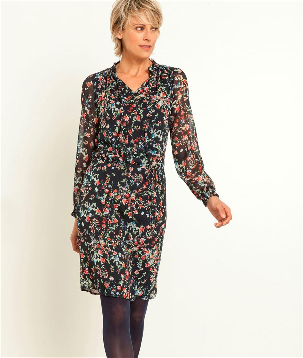 robe femme imprim floral marine grain de malice. Black Bedroom Furniture Sets. Home Design Ideas