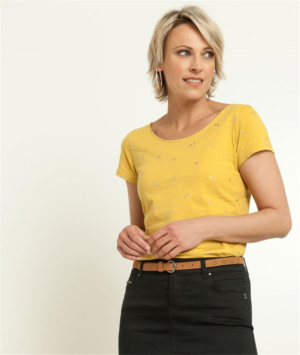 T-shirt femme imprimé micro motifs SAFRAN