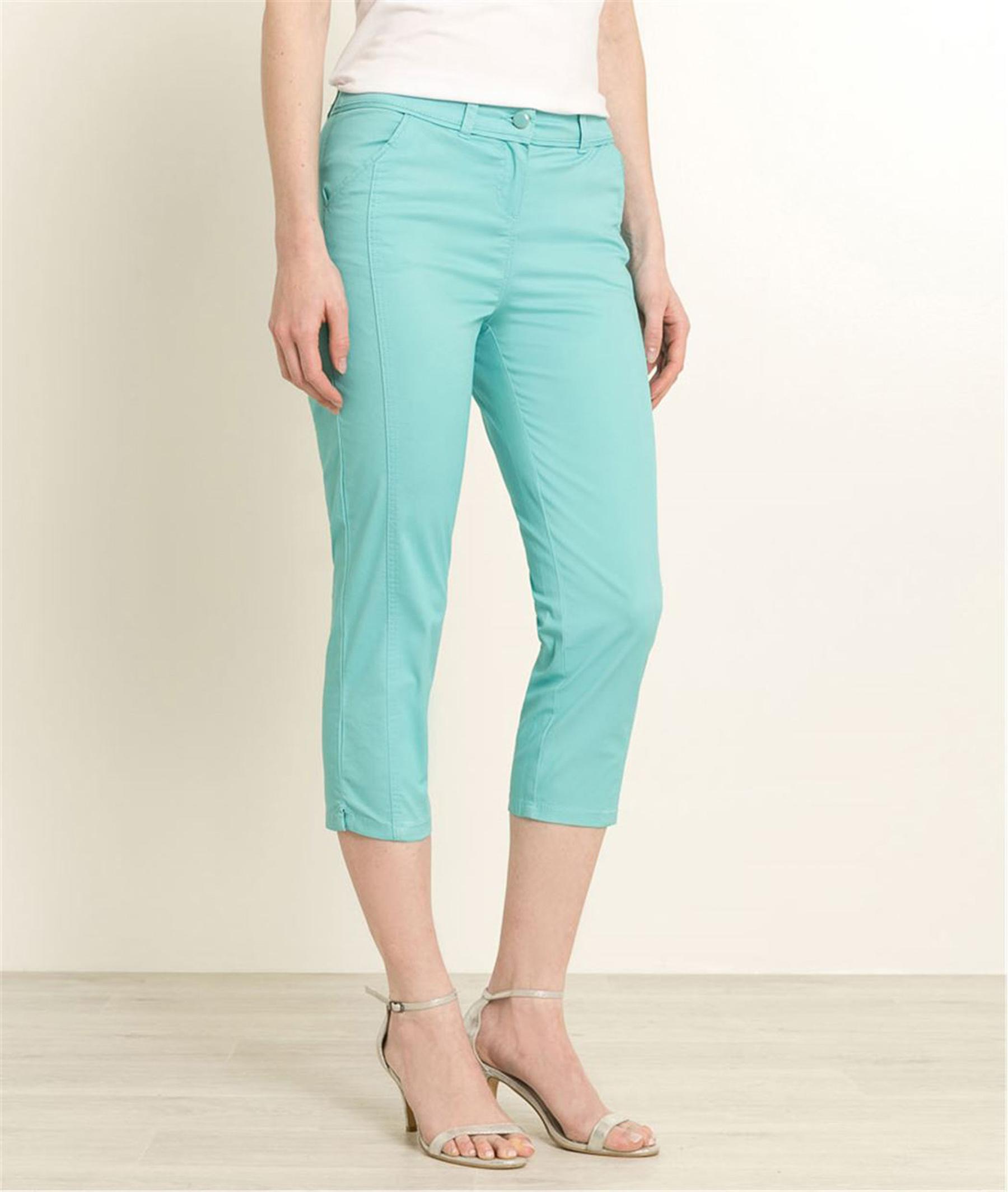 88fdb174211d Pantalon corsaire femme couleurs LAGON - Grain de Malice