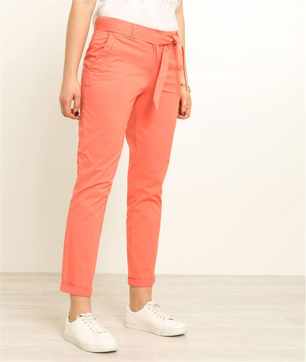 Pantalon femme chino ceinturé CAPUCINE