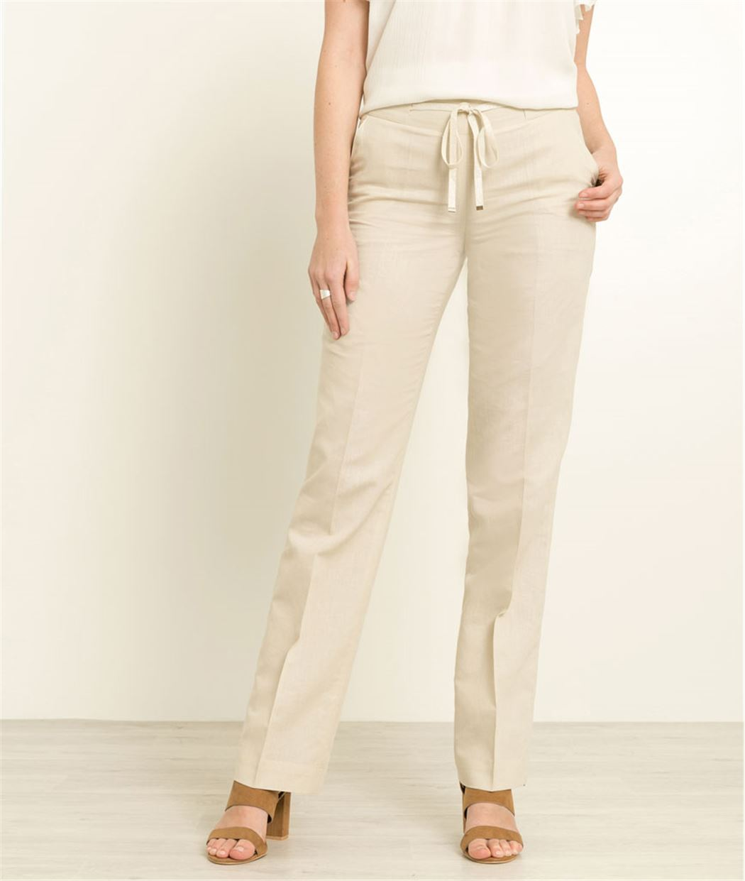 Pantalon femme en lin GREGE