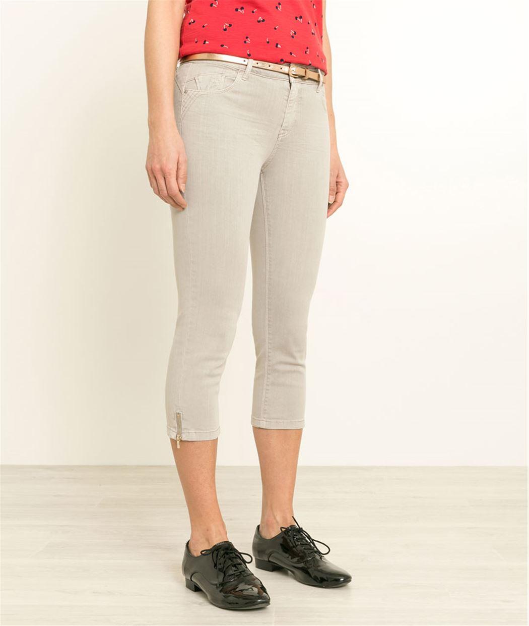 Corsaire femme en jean couleurs GREGE