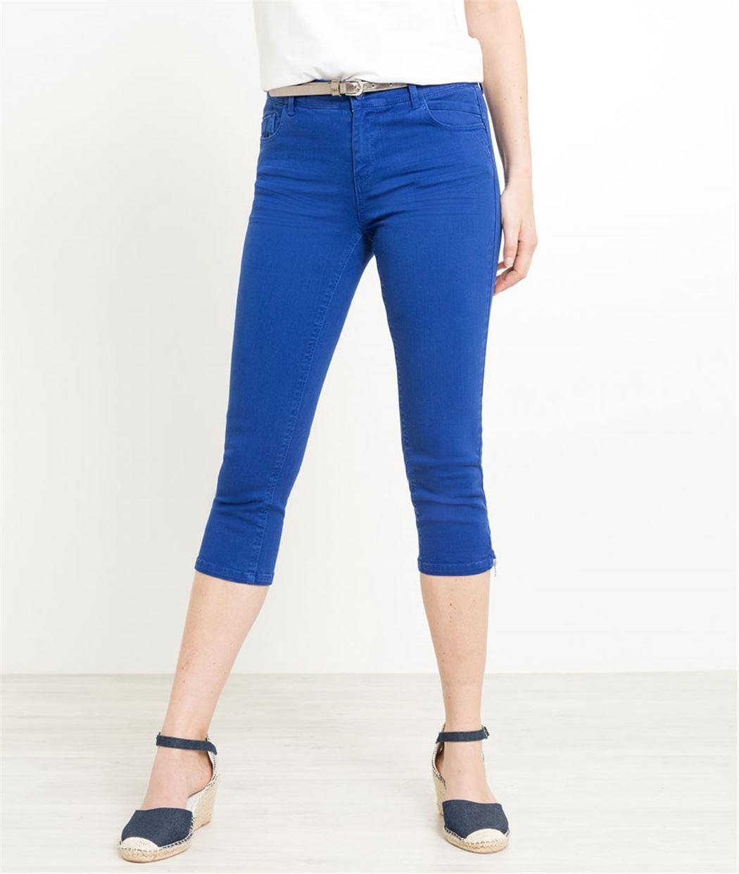 Corsaire femme en jean couleurs OUTREMER