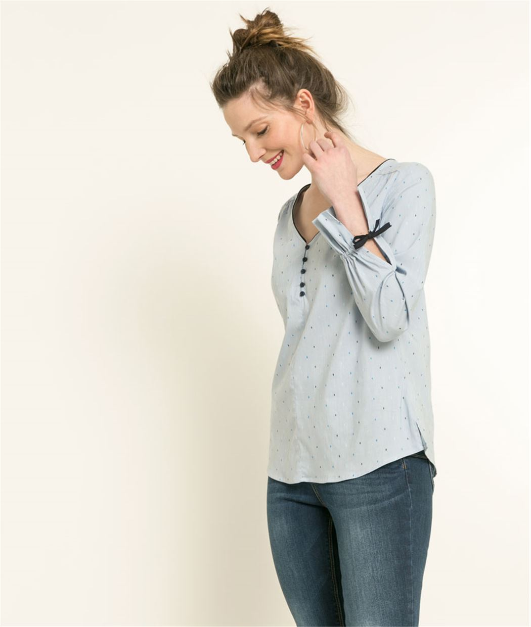 Blouse femme structurée chambray CHAMBRAY