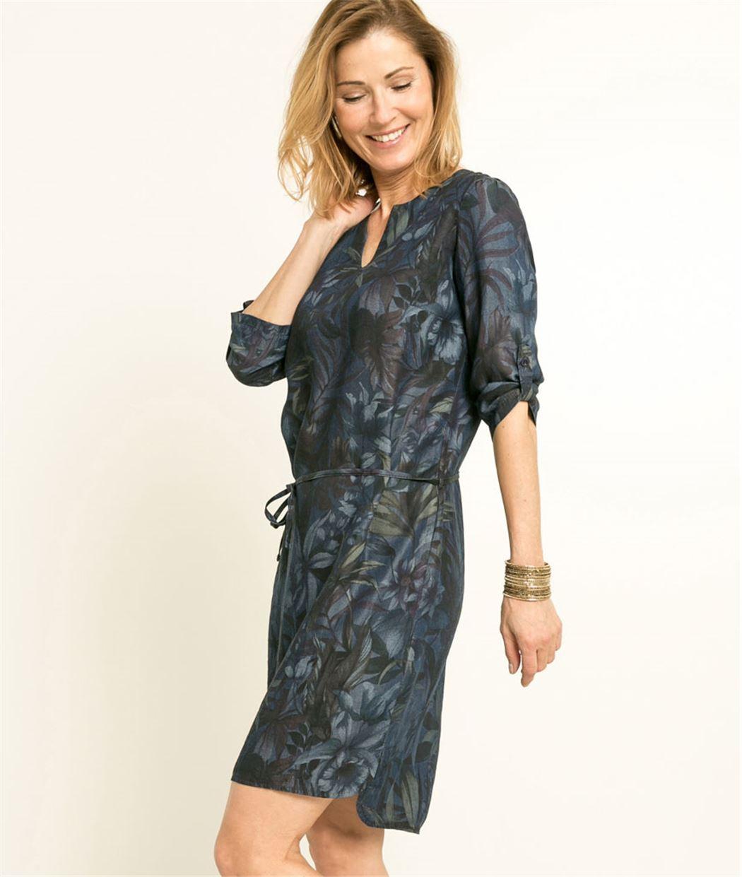 robe femme imprim floral bleu grain de malice. Black Bedroom Furniture Sets. Home Design Ideas