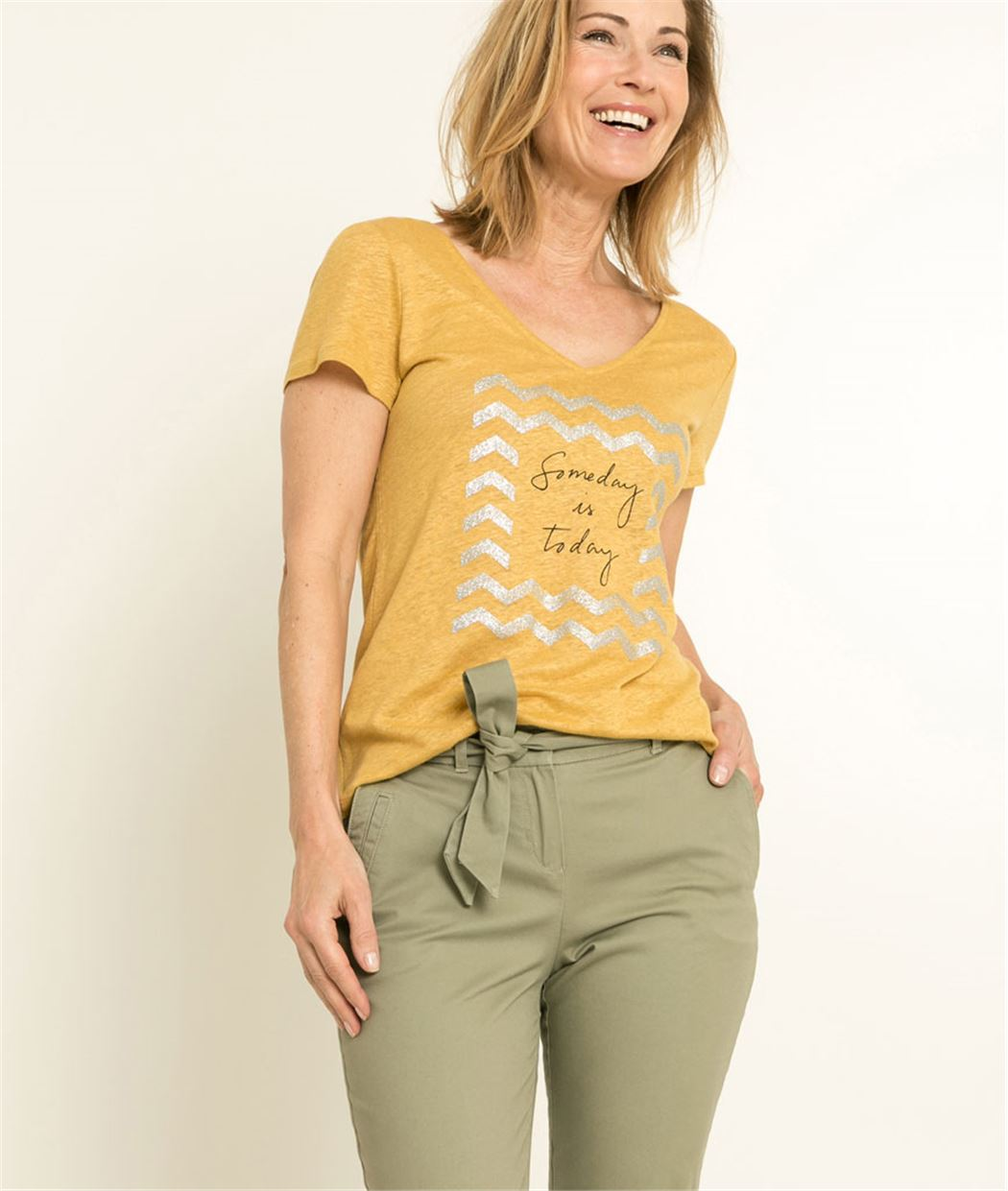 T-shirt femme noeud dos SAFRAN